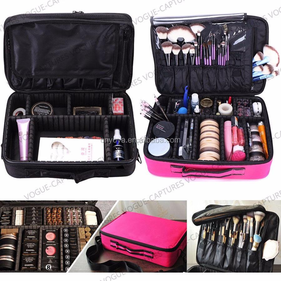 Large Makeup Bag Cosmetic Case Storage Handle Organizer Artist Travel Kit