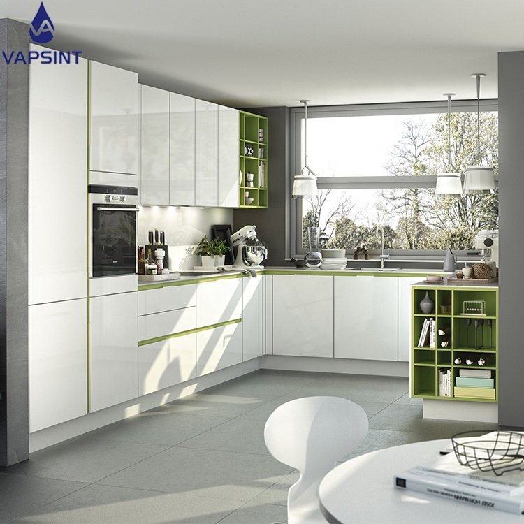 Vapsint modular high gloss lacquer <strong>cabinet</strong> designs kitchen for hot sale