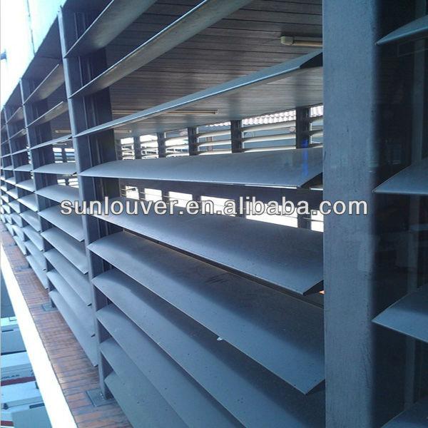 L =450mm Adjustable Exterior Aluminum Louvered Shutters Decorative ...