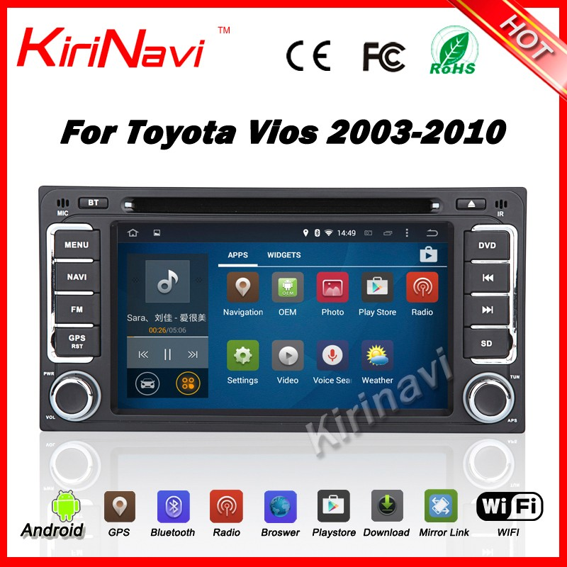 Kirinavi WC-TU6229 android 5.1 2 DIN Universal for <strong>toyota</strong> Car Radio DVD GPS stereo For <strong>Toyota</strong> Corolla Camry <strong>Prado</strong> RAV4 WIFI 3G