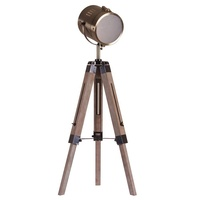 Nature wood tripod shooting task lamp table lamp for living room