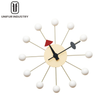 Modern design new arrival beautiful popular white wood wall clock