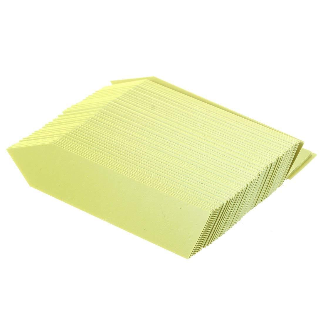 TOOGOO(R) 100 Pcs Plastic Plant Seed Labels Pot Marker Nursery Garden Stake Tags 10cm x 2cm (yellow)