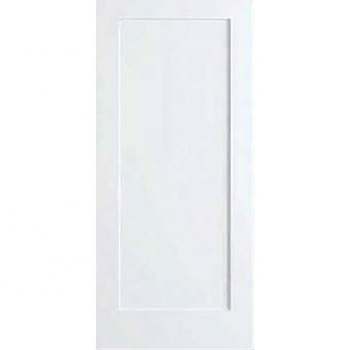 White Primed Shaker 1 Panel Solid Composite Door