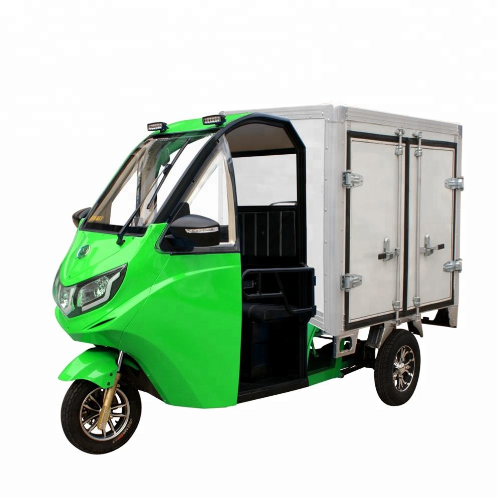New arrival Green electric cargo <strong>truck</strong> with chargeable battery
