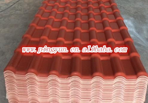 Pmma Pvc Plastic Roof Tile Synthetic Spanish Roof Tile