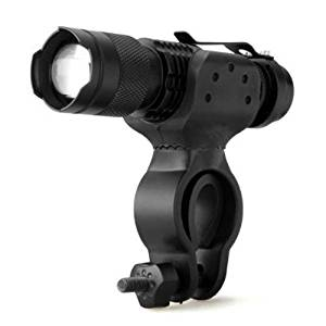 WindFire 2 in 1 Cree Xm-l T6 U2 LED Zoomable Flashlight Torch Lamp with Bike Mount 1800 Lumens 5 Modes Flashlight Lighting Torch Ultra Bright & Rugged Bike Headlight High-power Cree LED Mountain Bike Headlight, Bicycle Headlight,18650 Rechargeable Bike Front Light, Cree Bicycle Light (Batteries not