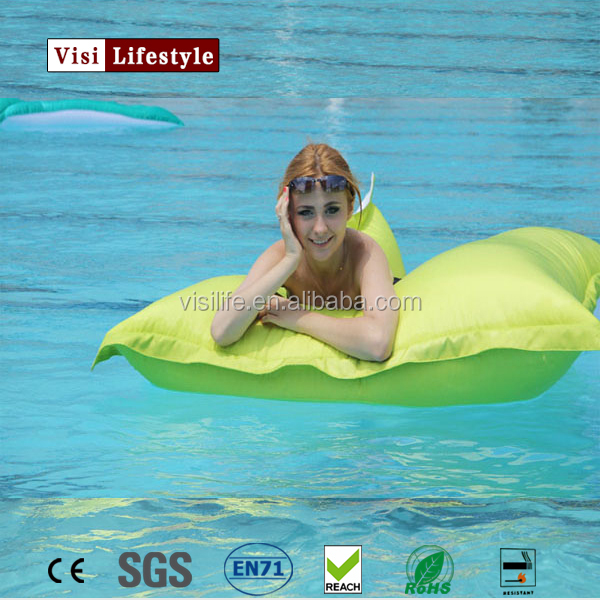 VIsi BB300 Extra Large Fluorescent Floating Water Bean Bag Giant Pool Side Beanbag Chair Water Raft Toys Outdoor Furniture Sofa