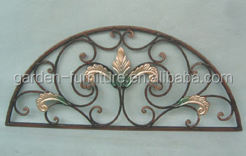 Bon Handicrafts Home Wall Decor Rustic Scroll Door Topper Wrought Iron Window  Grill