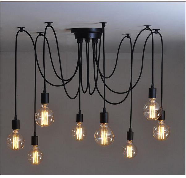 10 Heads Thomas Replica Pendant Light Edison Bulb Chandelier