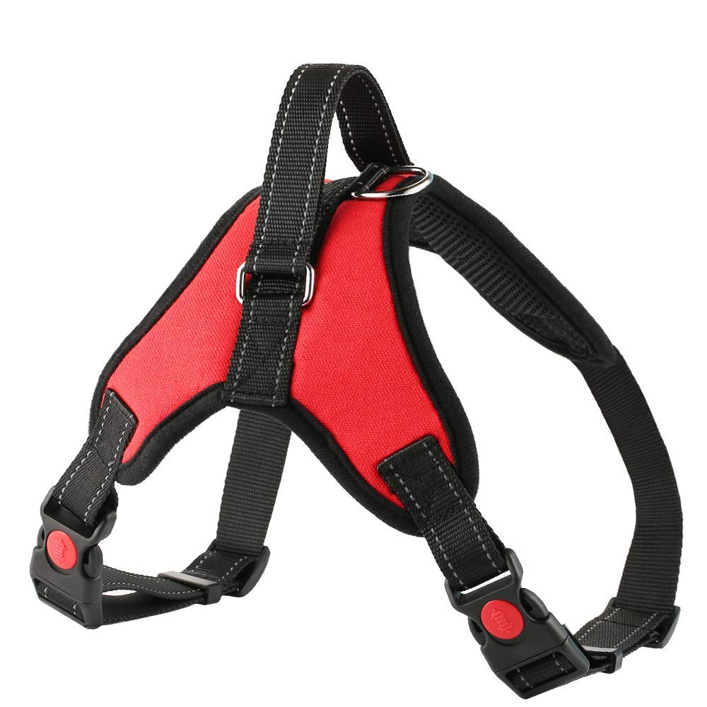 Custom No Pull Dog Body Harness Vest Backpack Adjustable For Small Large Dogs