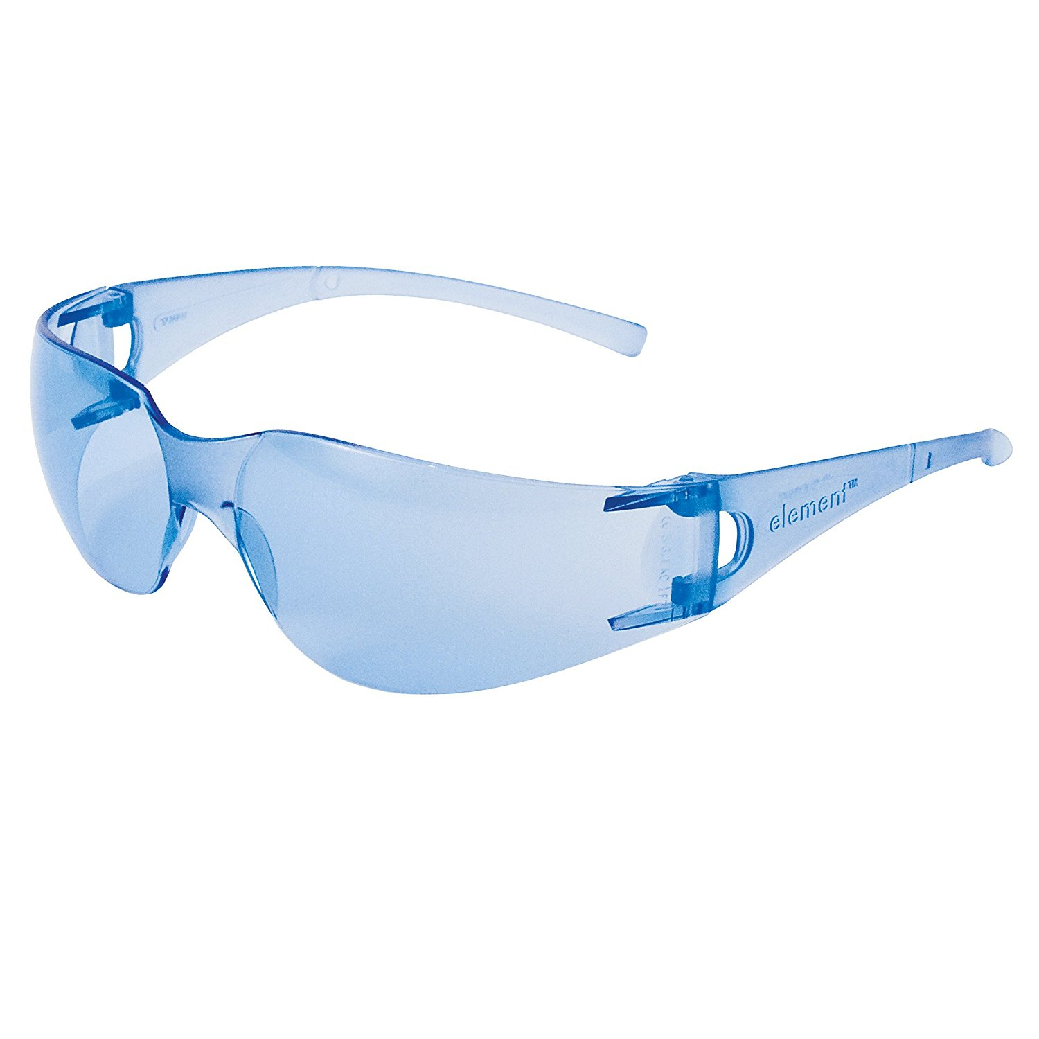 509bdf766e Get Quotations · Jackson Safety 33072 V10 Element Safety Glasses, Light  Blue Lenses with Light Blue Temples (
