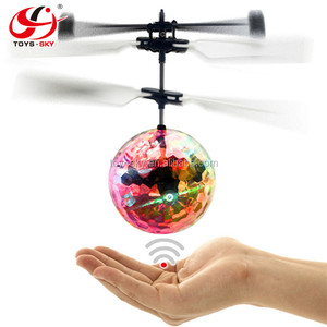 Colorful Flying Ball Helicopter Built-in Shinning LED Lighting Flying Toys for Kids