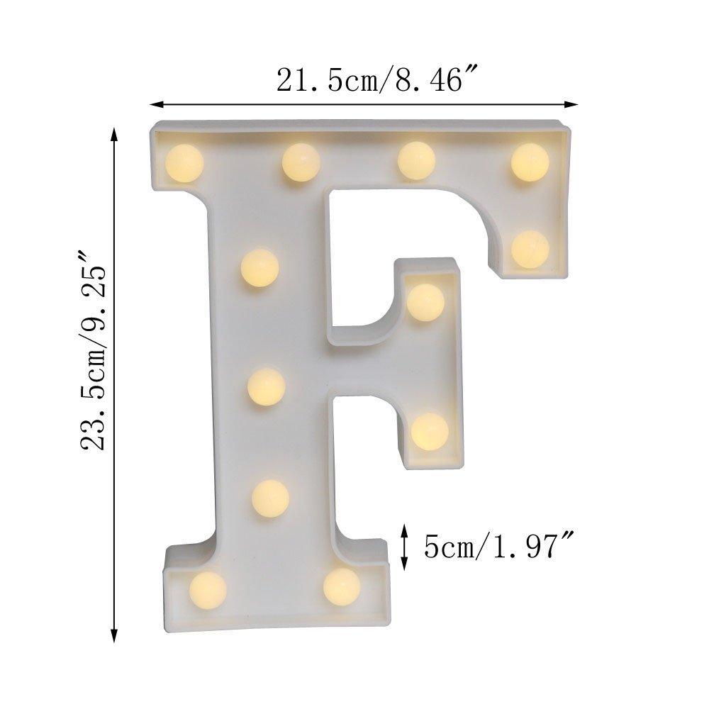 Mini Marquee Luz A Letra T Preto e Branco Bateria-Novo Com Etiqueta