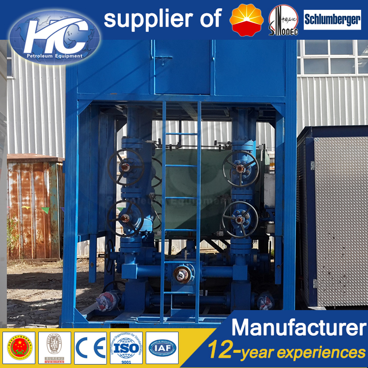 China supplier sand separator / wellhead testing desander / desanding machine for oil field on sale