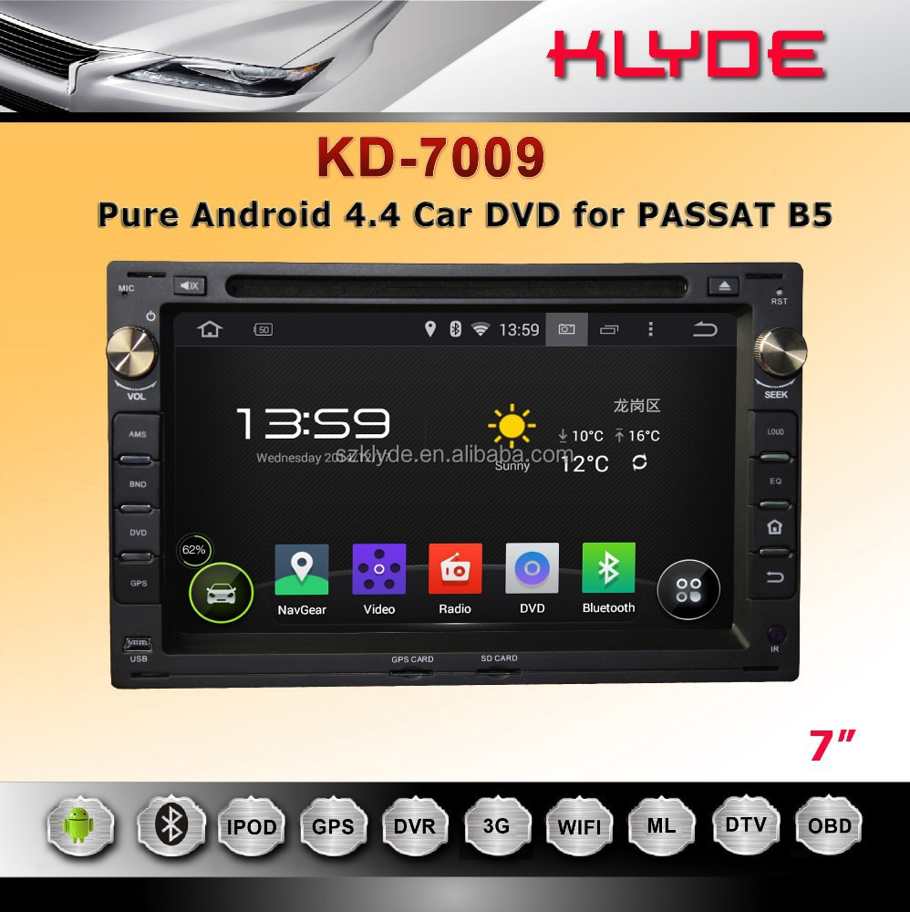 Touch screen 7'' Android 4.4.4 dual-core auto radio player for PASSAT B5 with all function