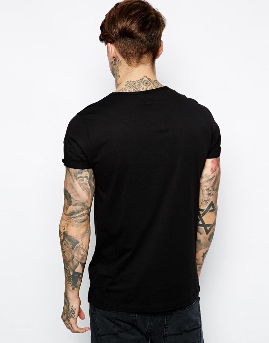 Black t shirt blank - Blank Black Pocket T Shirt Wholesale For Men