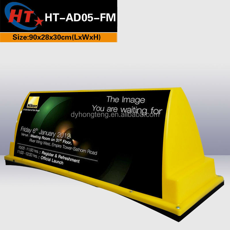 Pizza Sign Box Top Advertising Auto Roof Box Taxi Signal Dome ...
