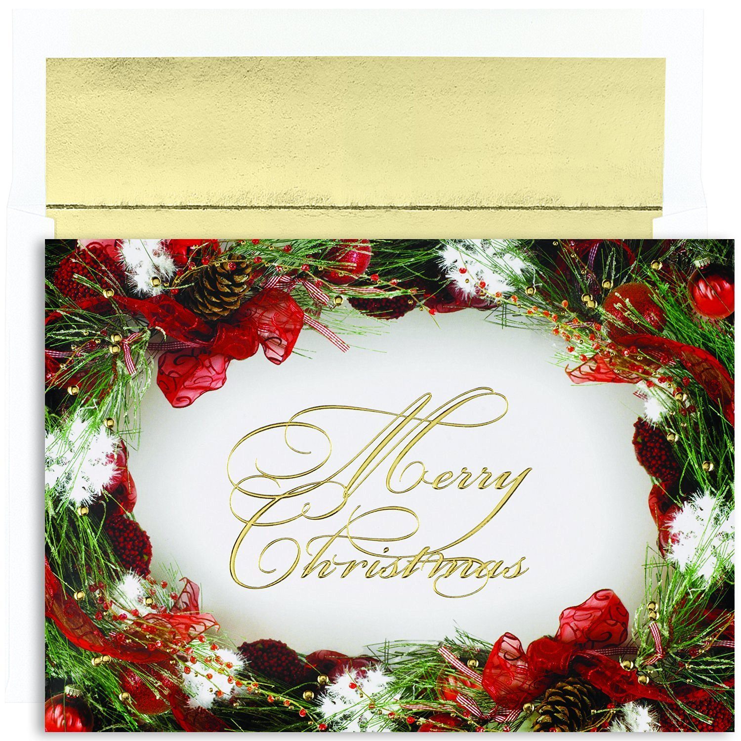 Buy Masterpiece Studios Holiday Collection Hanging Wreath Greetings ...