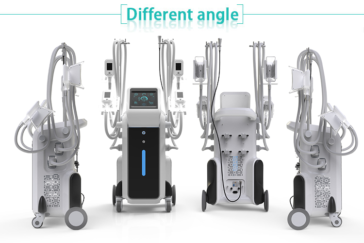 Beauty salon equipment 4 handpieces vacuum therapy fat reduce cryolypolisis machine