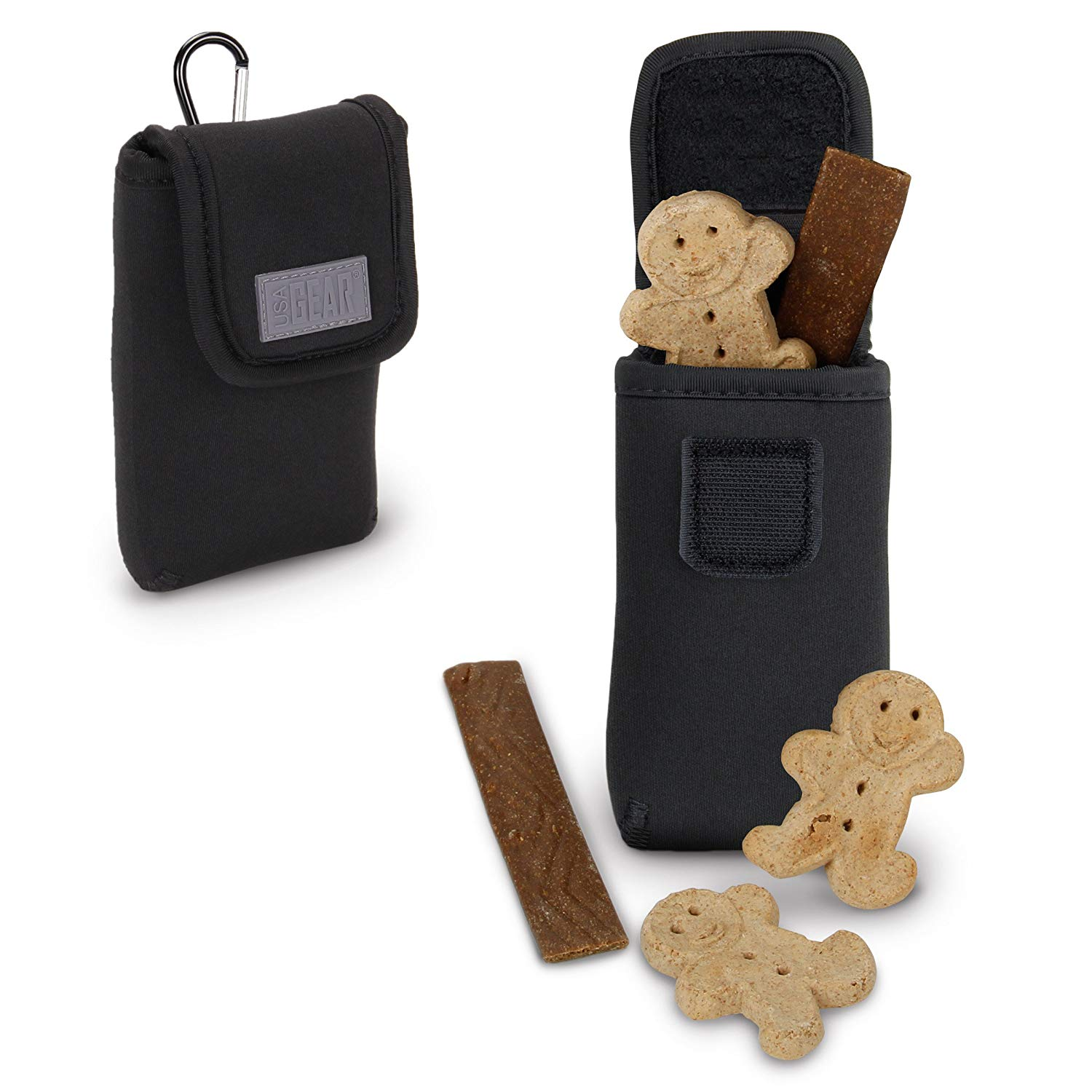 6e60869466 Get Quotations · USA Gear Dog Treat Carrying Pouch   Puppy Training Snack  Bag Holder with Reinforced Belt Loop