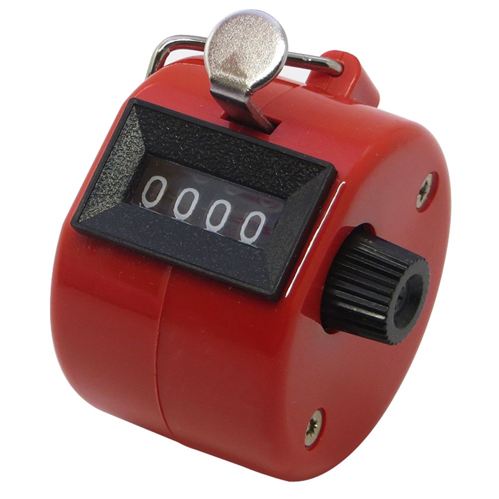4 Digit Mechanical Palm Click Counter Hand Held Counter Clicker for Sport Stadium Coach Casino School