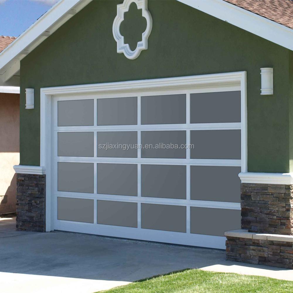 Buena calidad marco de aluminio vidrio de arriba del for Costo del garage