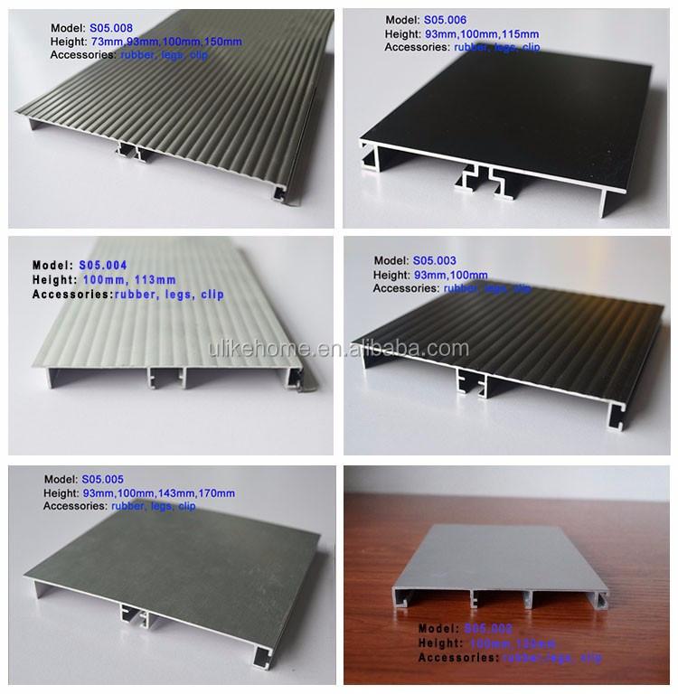 Skirting Kitchen eckabschluss Aluminium in Stainless Steel Look