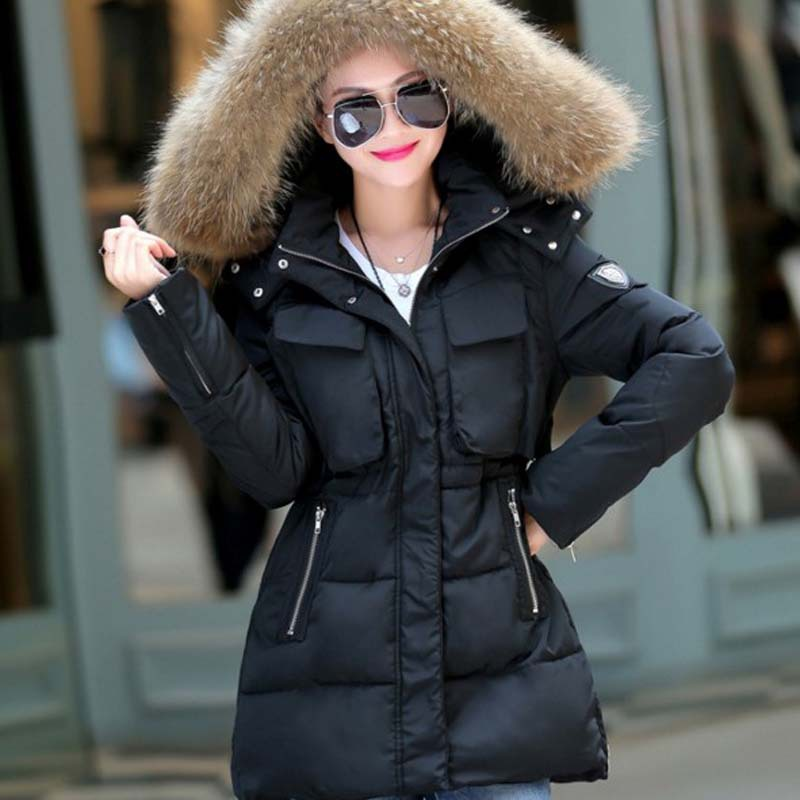 Fur hooded jackets for women