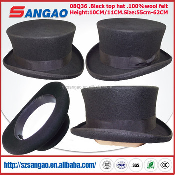 b816a7809a2 Wholesale Black 10 Cm Sinamay Top Hat With Size 55 Cm To 61 Cm ...
