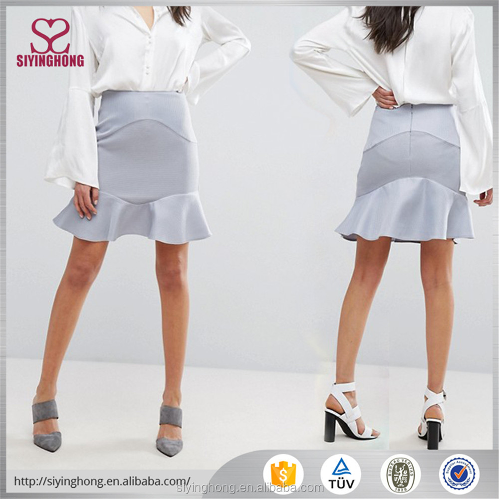 2017 ladies short skirts summer fashion spandex cotton pure color over hip slim fit pretty sexy girl mini skirt