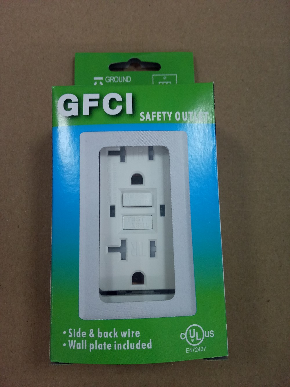 Marvelous ☆1pcs GFCI Wall Outlet (with Wall Plate) In Color (Green/Blue/Red) Box, 10  Boxes/inner And 5 Inners/carton.Size: 38.5*31*23.5cm, G.W: 9.2KG