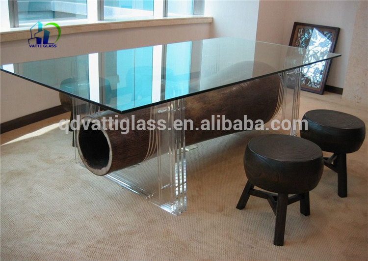 Tempered Glass Top Round Dining Table Rotating Toughened Glass Top Center  Table