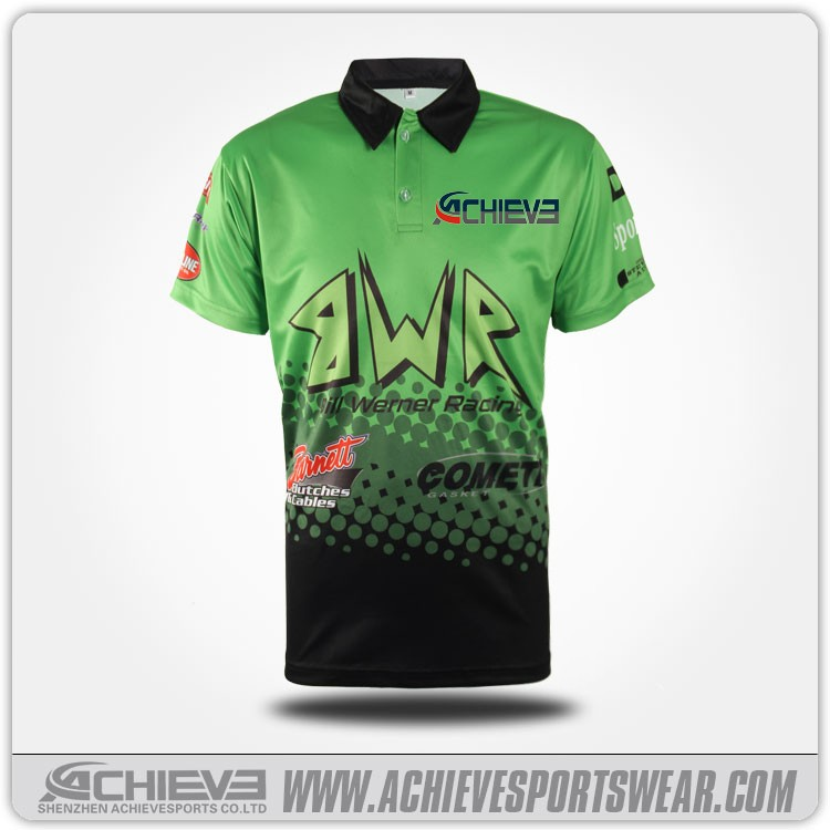 Sublimation printed polo t shirts polo collar wicking and for Custom printed dri fit shirts