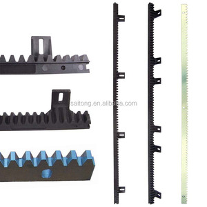 Nylon/plastic gear rack for sliding gate