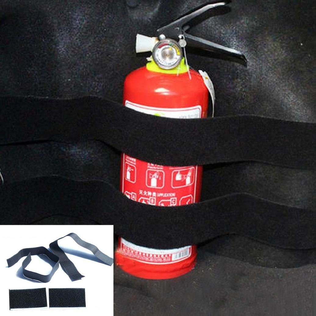 Gotd2pcs Car Trunk store content bag Rapid Fire extinguisher Holder Safety Strap Kit (2pc)