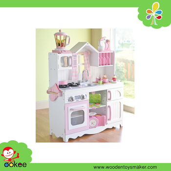 Complete Pink And White Play Kitchen With Matching Dishes And  Accessories,Educational Kitchen Toy For Kids - Buy Complete Pink And White  Play Kitchen ...