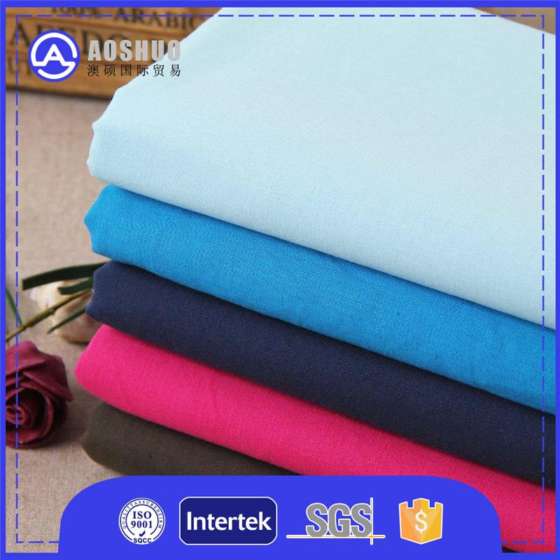 fabric viscose dyed / bleached tc fabric pocketing 65% 35% tc polyester cotton blend poplin pocketing fabric