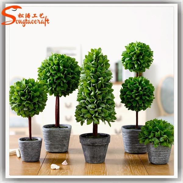 2016 bolas topiaria artificial buxo topiary plantas ornamentais de pl stico para o interior - Plantas decorativas interior ...