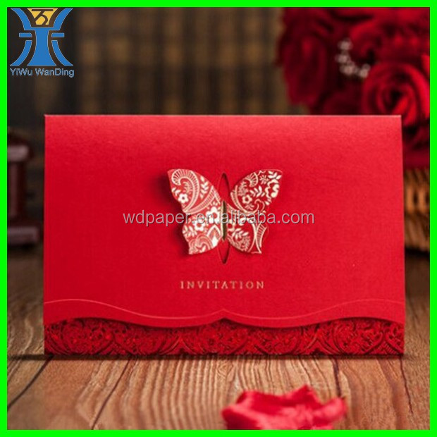 Yiwu 2015 New Arrived Attractive Custom Made Wedding Invitation – Custom Made Invitation Cards