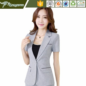 Ku081 2017 nuevo dise o para mujer de manga corta uniforme Diseno de uniformes para oficina 2017