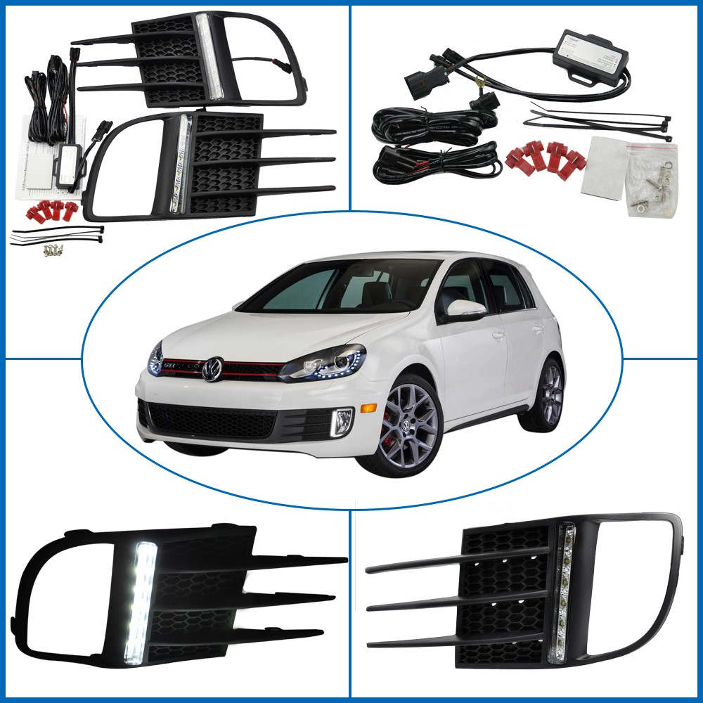 OE Fitting E4 approved Car Parts LED DRL Vinstar Daytime Running Light for Golf VI 09-12