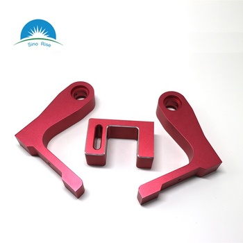 OEM High Quality CNC Milling Parts Aluminum 6061/ Supporting Foot with Red Anodizing