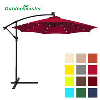 Outdoor Patio 10ft Hanging LED Light Umbrella
