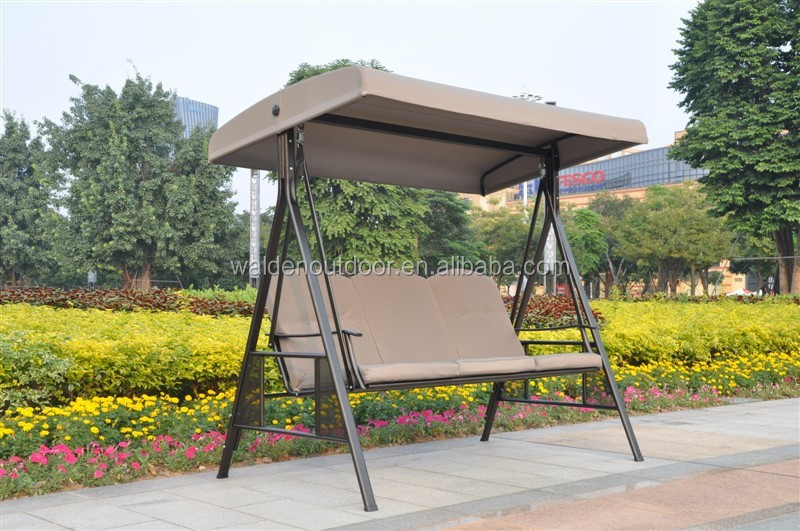 Garden furniture 3 seater patio swing/metal garden swing/ canopy outdoor swing (DH-204)