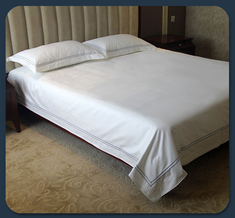 250tc Single Bed Hotel Bed Flat Sheet 250tc White Queen Bed Hotel