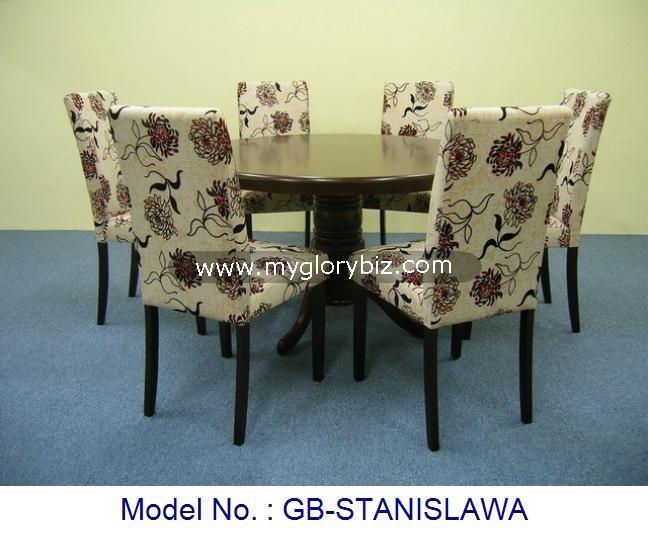 1   6 tela comedor conjunto mesa redonda y sillas de madera en el ...