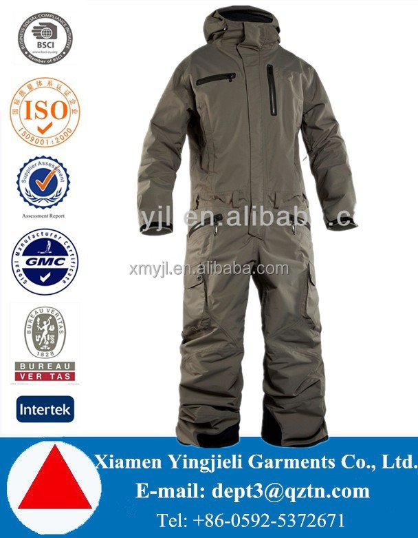 High Quality Custom Waterproof Men One Piece Snow Ski Suit Snowboard Overall