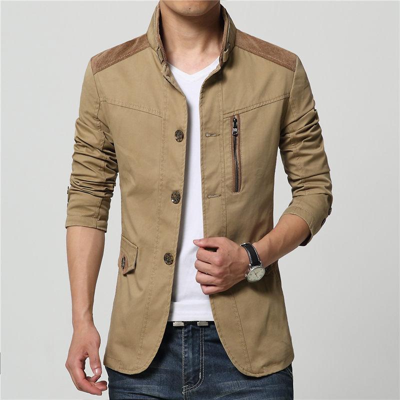 acheter nouveau automne hiver haute qualit hommes formelle veste manteau solide. Black Bedroom Furniture Sets. Home Design Ideas