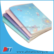 B5 PVC cover notebooks/Clear pp cover notebook